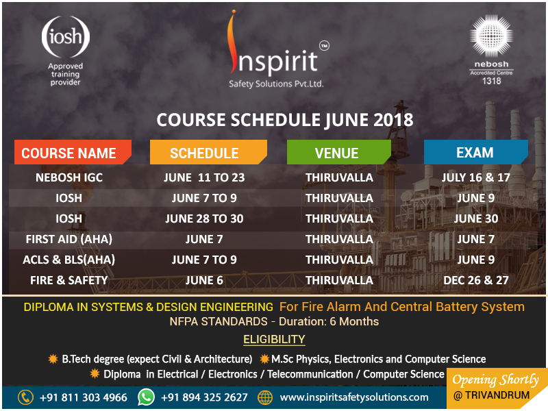Inspiritsafetysolutions Course Calender